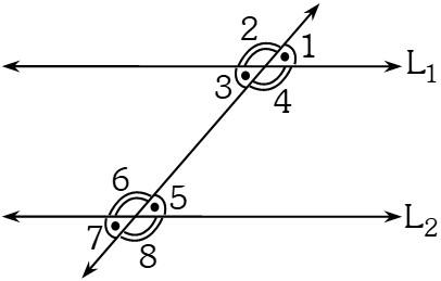 Ángulos Formados por dos Rectas Paralelas Cortadas por una Secante