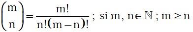 Calculos de El Coeficiente Binomial