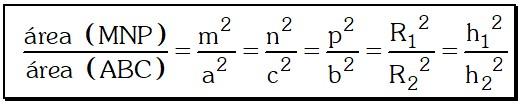 Caso 1 Teorema 4 para Relacionar las Áreas de Dos Triángulos