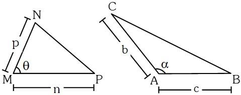 Caso 2 Teorema 3 para Relacionar las Áreas de Dos Triángulos