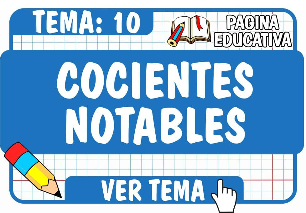 Cocientes Notables