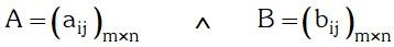 Definicion de Adicion de Matrices