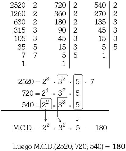 Descomposición de los Números en sus Factores Primos