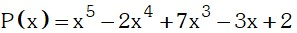 Determinación de posibles ceros de un polinomio