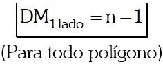 Diagonales Medias trazadas desde el punto medio de uno de los lados del Polígono