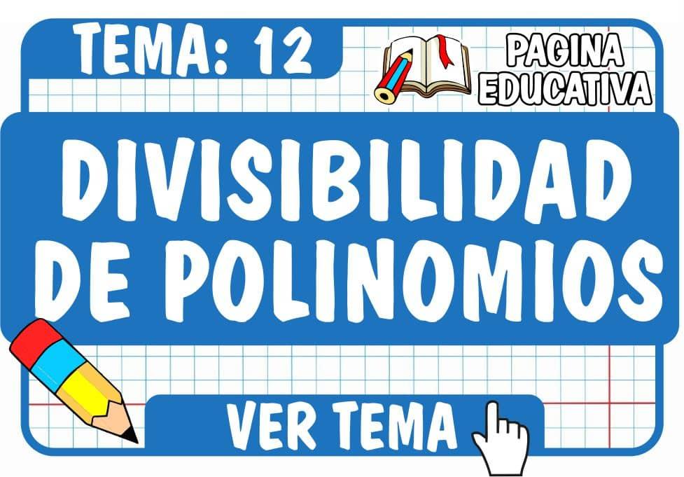 Divisibilidad de Polinomios