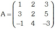 Ejemplo 1 de Adjunta de una Matriz