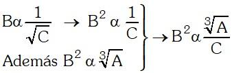 Ejemplo 1 de Magnitudes Proporcionales