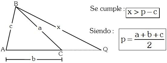 Ejemplo 10 Teoremas sobre Desigualdades con Lados en Triángulos