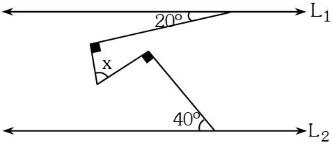Ejemplo 2 de Ángulos Formados por dos Rectas