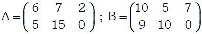 Ejemplo Adición y Sustracción de Matrices
