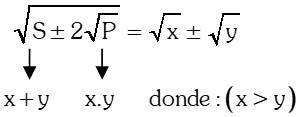 Ejemplo Caso 1 Conversión de Radicales Dobles a Simples