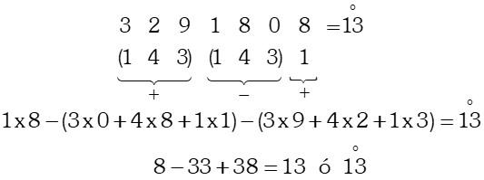 Ejemplo Divisibilidad por 13 ó múltiplos de 13