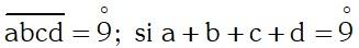 Ejemplo Divisibilidad por 9 ó múltiplos de 9