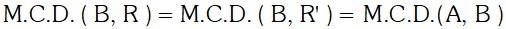 Ejemplo M.C.D. de dos Números por Divisiones Sucesivas