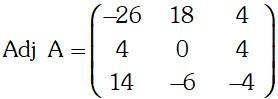 Ejemplo Matriz de Cofactores 1 de Adjunta de una Matriz