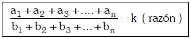 Ejemplo Propiedades para una Serie de Razones Geométricas Equivalentes