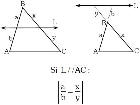 Ejemplo Teorema de Thales