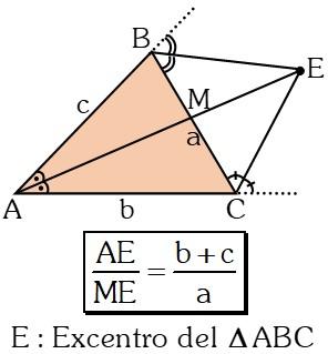 Ejemplo Teorema del Excentro