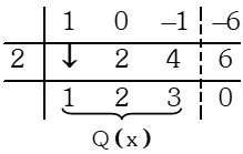 Ejemplo de Factor por la Regla de Ruffini
