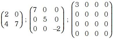 Ejemplo de Matriz Diagonal