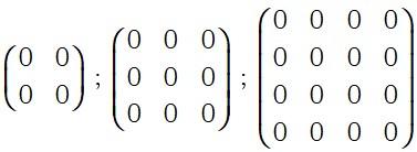 Ejemplo de Matriz Nula