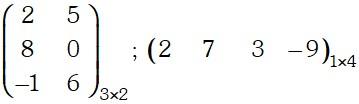 Ejemplo de Matriz Rectangular