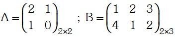 Ejemplo de Multiplicación de dos matrices