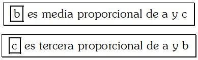 Ejemplo de Proporción Geométrica Continua