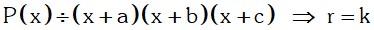 Ejemplo de Teorema 4 Divisibilidad de Polinomios