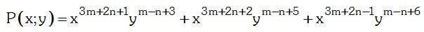 Ejemplo de grado absoluto y relativo de un polinomio