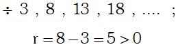 Ejercicio 1 Notación de una Progresión Aritmética