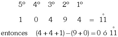 Ejercicio Divisibilidad por 11 ó múltiplos de 11