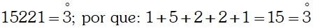 Ejercicio Divisibilidad por 3 ó múltiplos de 3