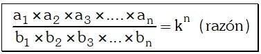Ejercicio Propiedades para una Serie de Razones Geométricas Equivalentes