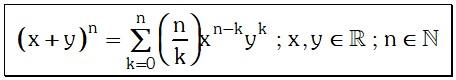 Expresion de Teorema de Potenciacion