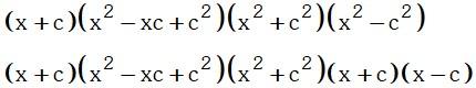 Factor por suma 2 de Fatorizacion por Identidades