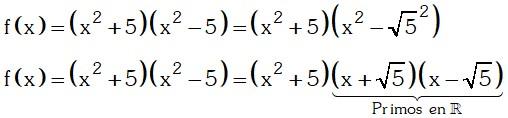 Factorizando en el conjunto de los Números Reales