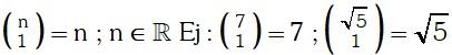 Formula 2 de Coeficientes Binomiales