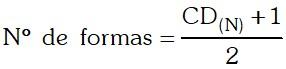 Formula Cantidad de Formas Posibles en que un Número