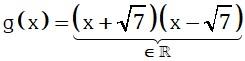 Formula Caso de Polinomio Irreductible sobre un Conjunto Numérico