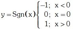Formula Funcion Signos