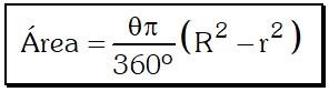 Formula Trapecio Circular
