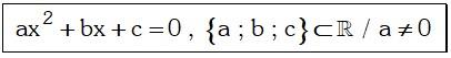 Formula de Ecuaciones de Segundo Grado