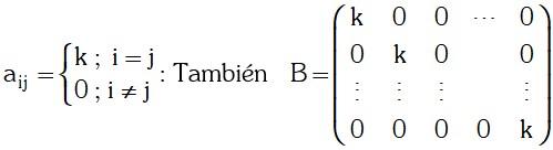 Formula de Matriz Escalar