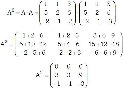 Formula de Matriz Nilpotente