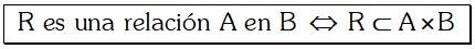 Formula de Relacion Binaria