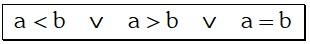 Formula de la Ley de Tricotomía