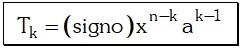 Fórmula del Término General del Desarrollo de un Cociente Notable