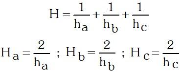 Formulación Área del Triángulo